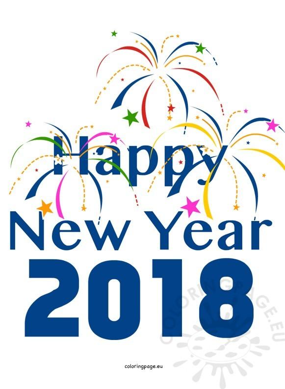 581x794 2018 Happy New Year Clip Art Happy New Year 2018 2
