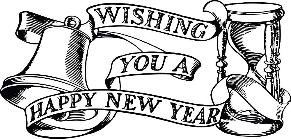 1000x479 2018clip New Year Clip Art Merry Christmas Amp Happy New Year 2018