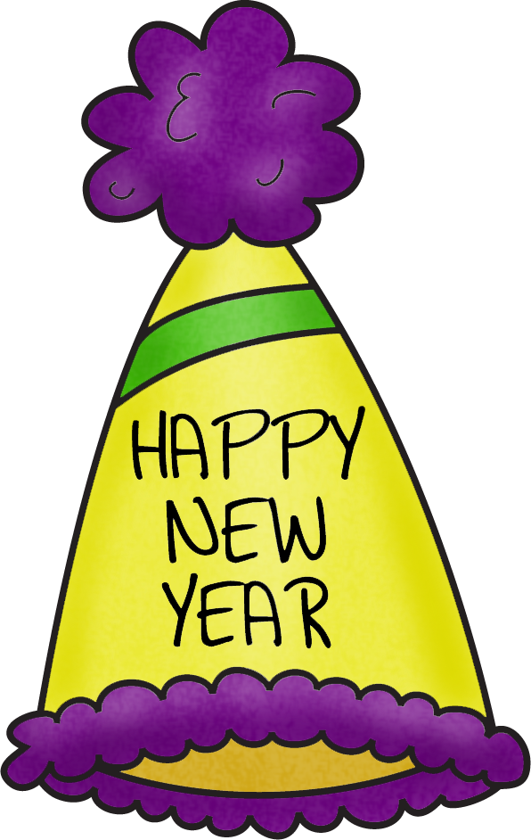 596x942 Happy New Year Hat Clip Art