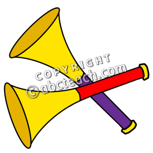300x300 New Year clipart horn