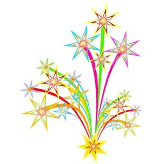 333x333 Fireworks clipart new years eve firework