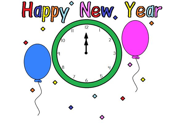 600x400 New Years Eve Clock Clip Art thewealthbuilding