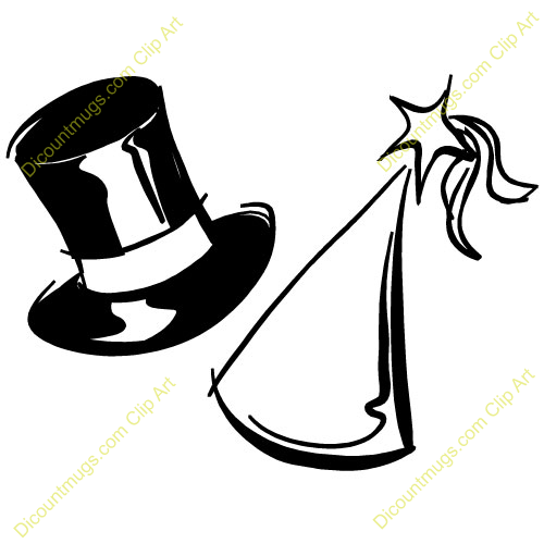 500x500 Top Hat Clipart New Years Eve