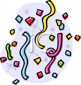 284x300 Confetti clipart new years eve