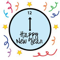 236x236 Clock Clipart New Years Eve
