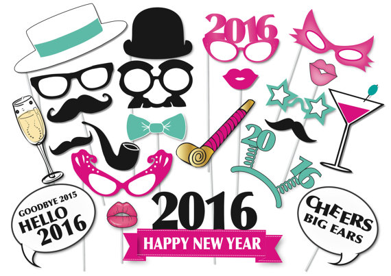 570x403 2016 New Years Eve Photo Booth Props Glitter