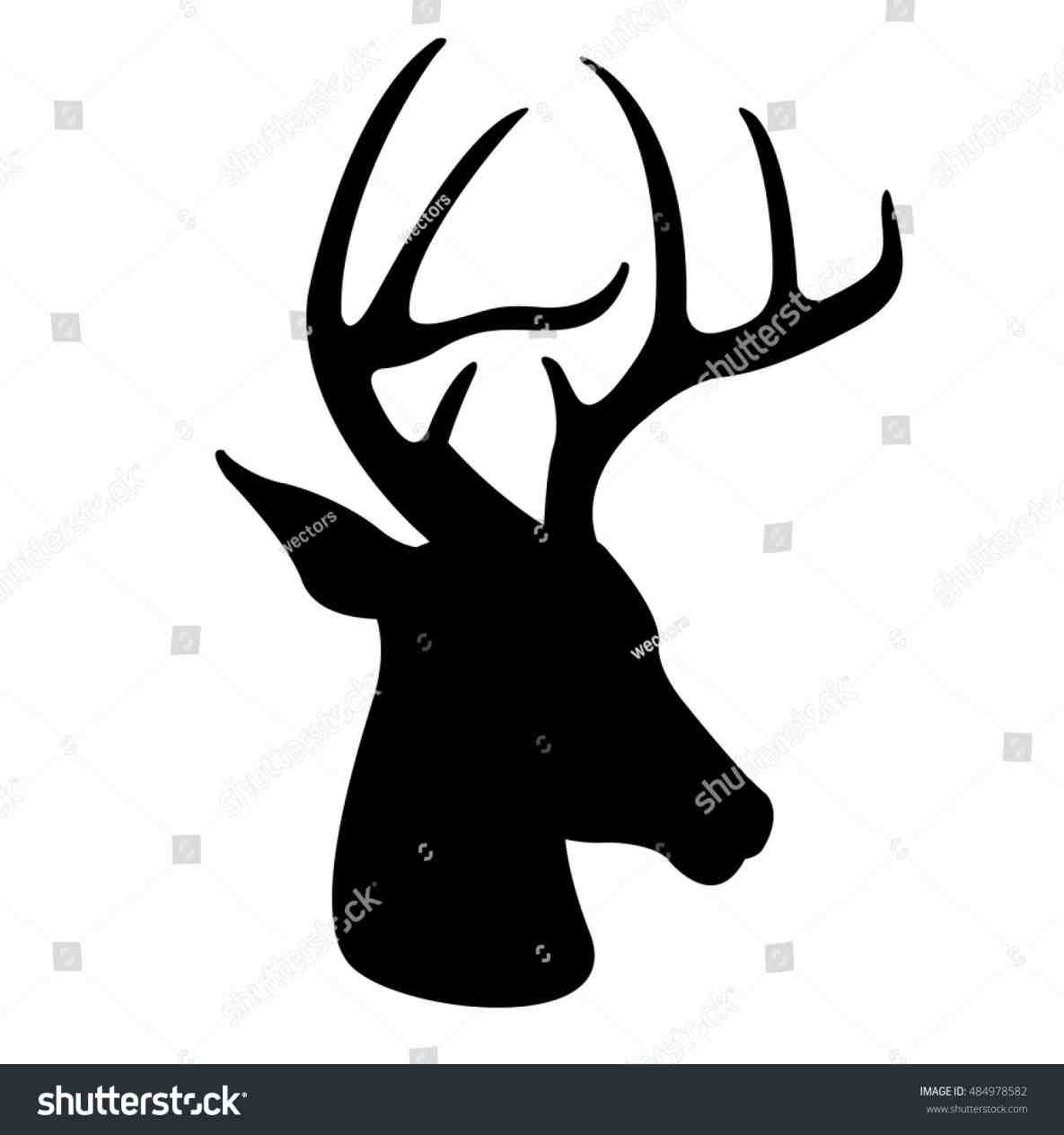 1185x1264 On Cliparts Christmas Reindeer Head Silhouette Free