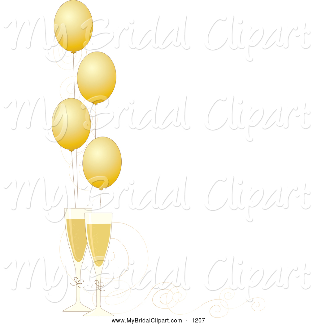 1024x1044 New Year Champagne Clipart