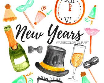 340x270 New Year Clip Art Etsy Studio