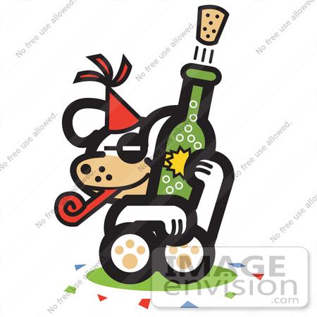 450x450 Royalty Free Cartoon Cliprt Dog Popping Corkf