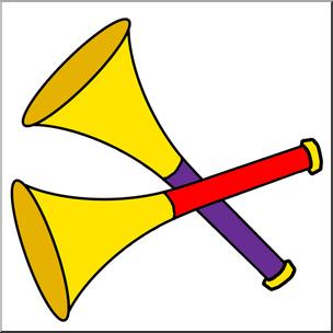 304x304 Clip Art New Year Party Horns Color I Abcteach