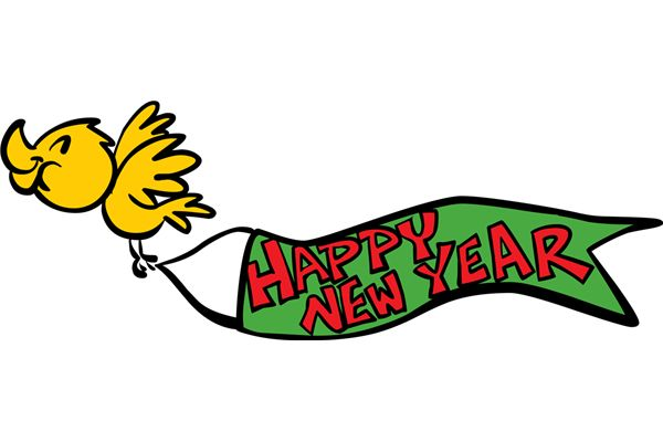 600x400 Happy New Year Banner Clipart