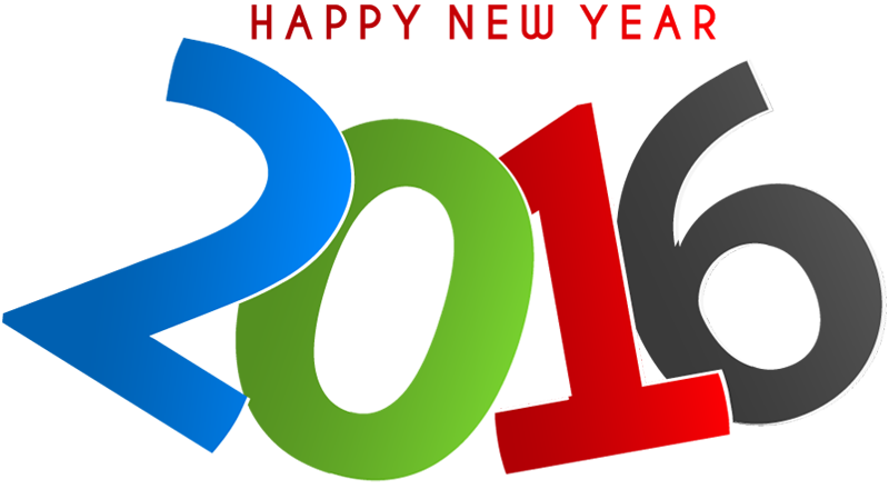 800x440 Multicolor New Year 2016 Text Design 1designshop