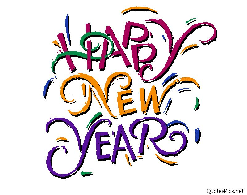 800x630 Happy New Year Black And White Clipart