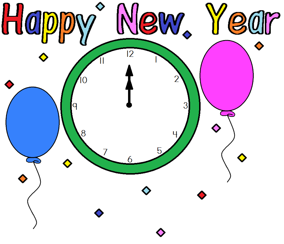 947x816 New Year Holiday Clip Art