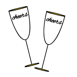 300x300 Champagne Glass New Year Clip Art Merry Christmas Amp Happy New