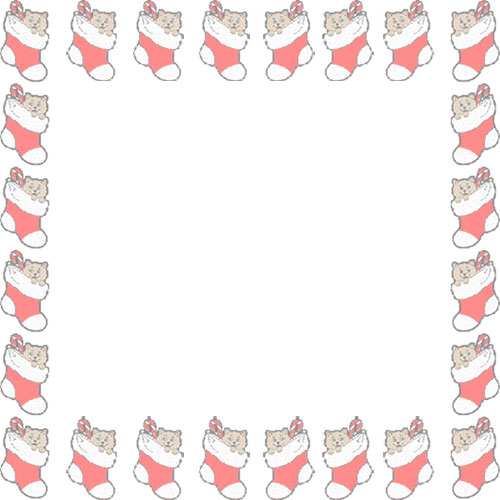 500x500 Border Christmas Stocking Clip Art Merry Christmas Amp Happy New