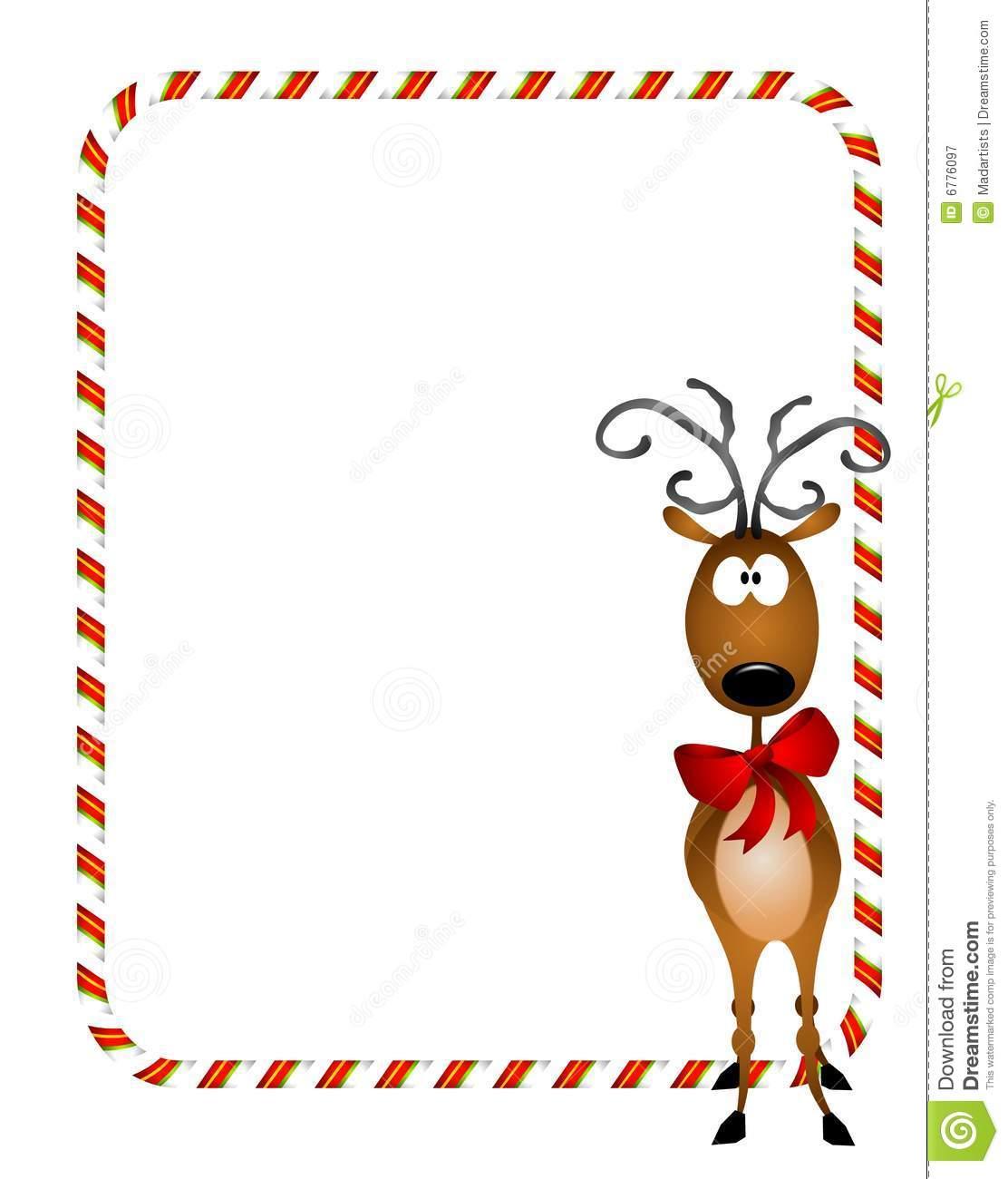 1112x1300 Santa Reindeer Border Merry Christmas Amp Happy New Year Arts