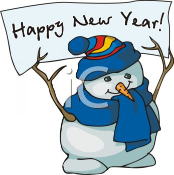 347x350 Small Clipart Happy New Year