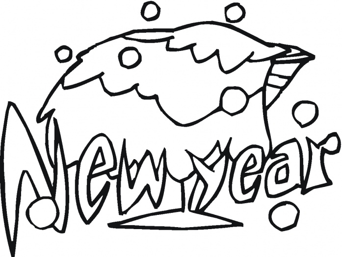 697x525 Coloring Pages Happy New Year 2011 Coloring Pages
