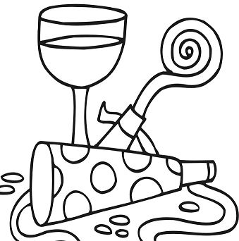 339x342 Happy New Year 2018 Coloring Page