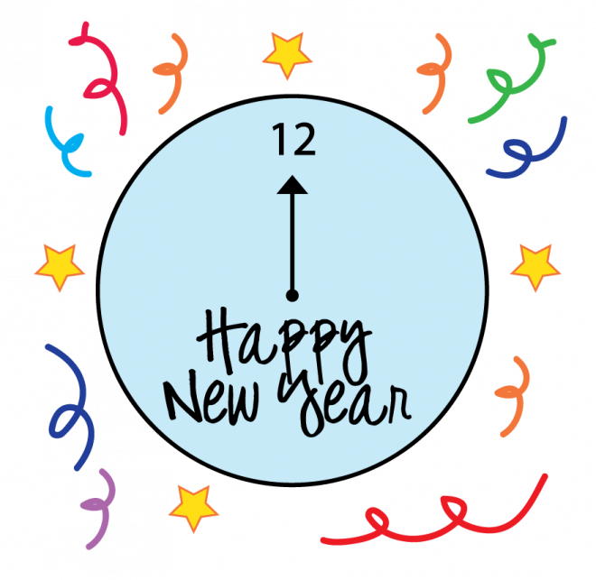 660x643 Happy New Year Coloring Pages 2018