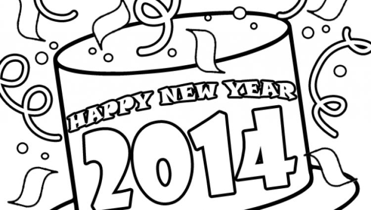 750x425 Happy New Year Colouring] New Year Coloring Pages 7 Coloring Kids
