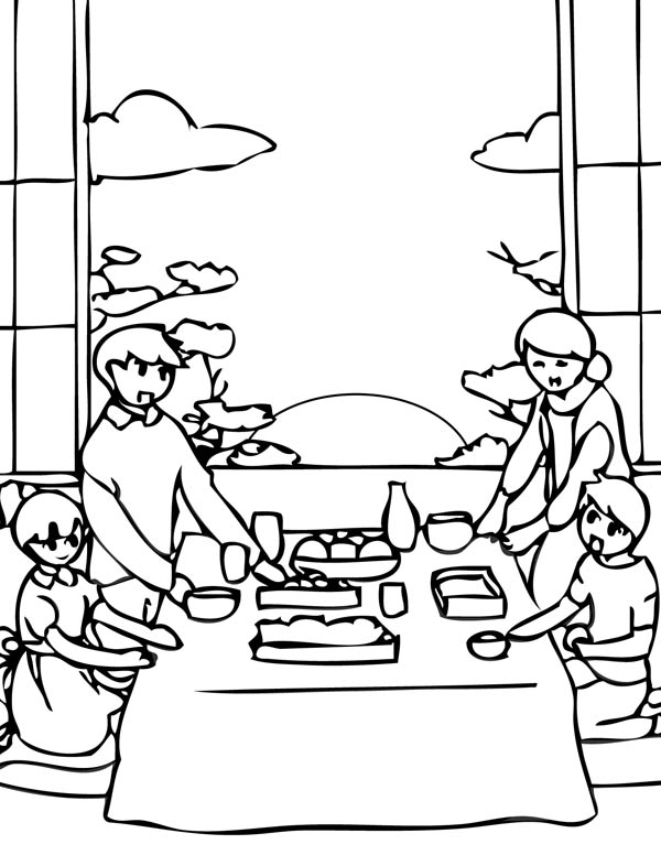 600x776 Japan New Year Eve Coloring Page Coloring Sky