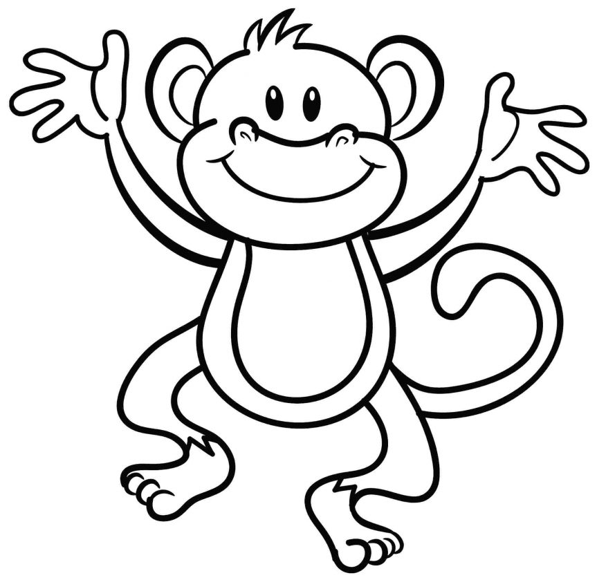 863x839 New Year Craft Ideas Monkey Coloring Pages Printable Christmas