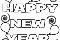 210x140 New Years Coloring Pages Minion Happy New Year Coloring Page