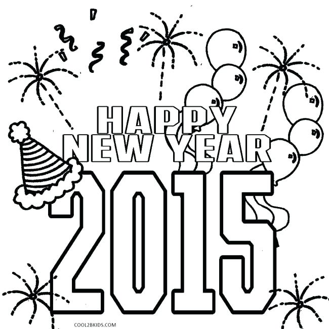 650x650 New Years Coloring Pages New Year Colouring Pages Fabulous New