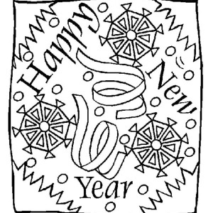 300x300 New Years Eve Greeting Message On 2015 New Year Coloring Page New