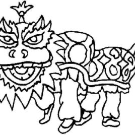 268x268 Chinese Horse Coloring Page Archives