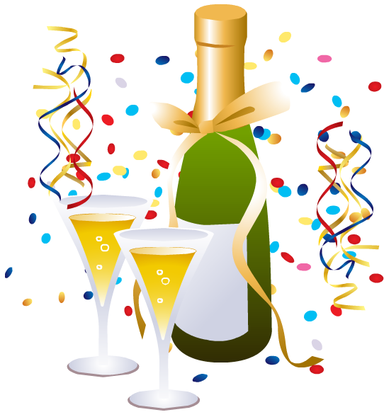 542x589 Clipart New Years Eve