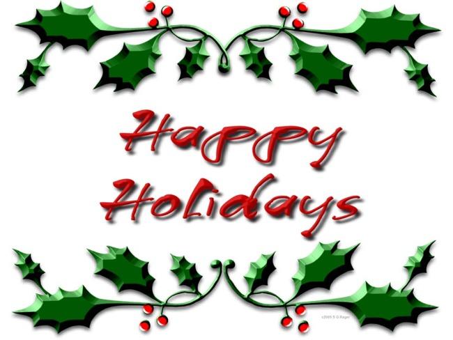 650x488 Free Happy Holidays Clipart