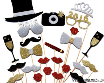 340x270 2018 New Year's Eve Photo Booth Props Collectionprintable