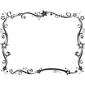 325x325 Black White New Year Border New Years Eve Clip Art Black