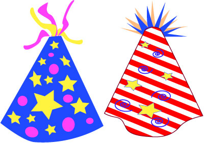 400x281 New Year Clipart Party Supply
