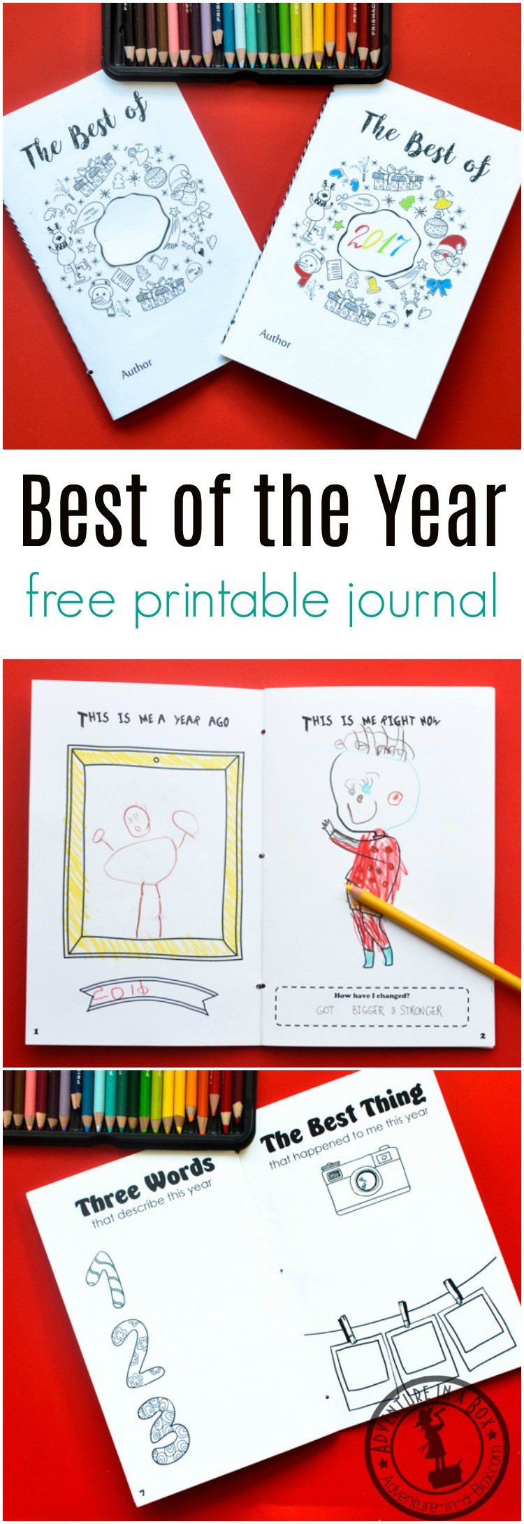 750x2180 Best Of The Year Free Printable Journal For Kids To Fill On New