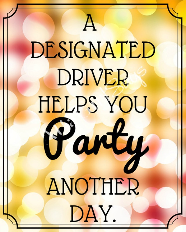 640x800 Designated Driver New Year's Eve Party Printable