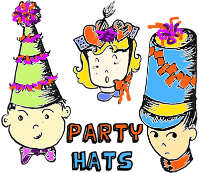 400x348 New Year Party Hat Crafts For Kids Arts Amp Crafts Activities