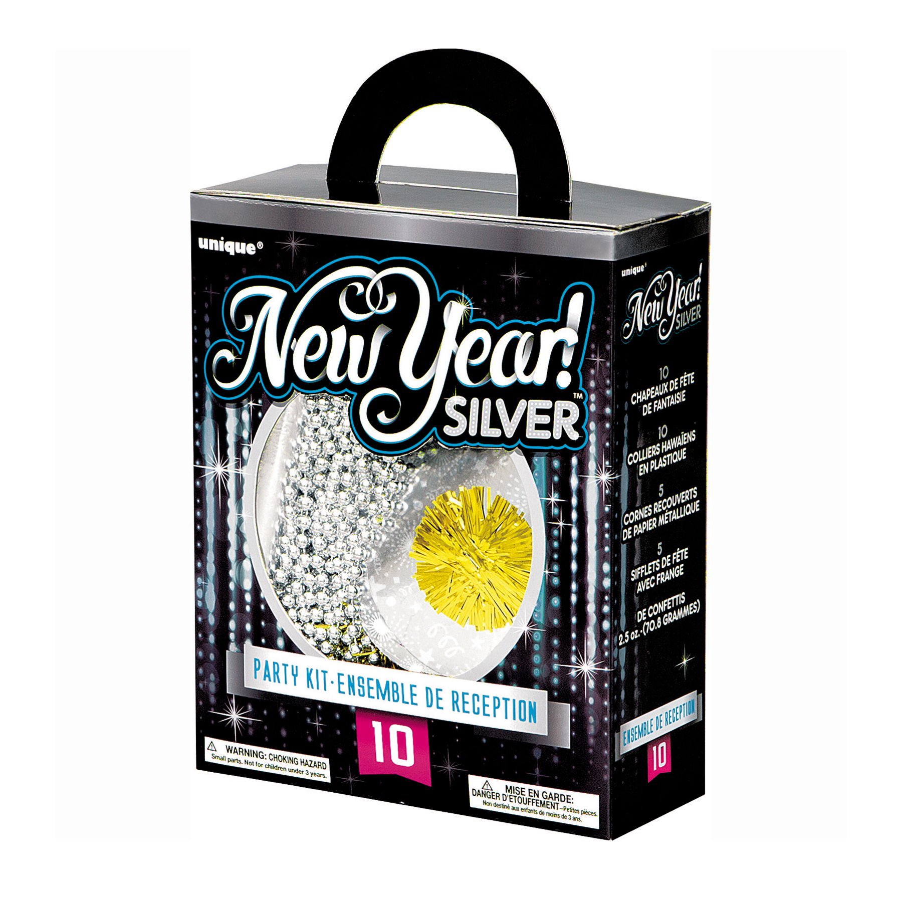 1800x1800 Silver New Years Accessories Kit For 10 Guests New Year's Eve