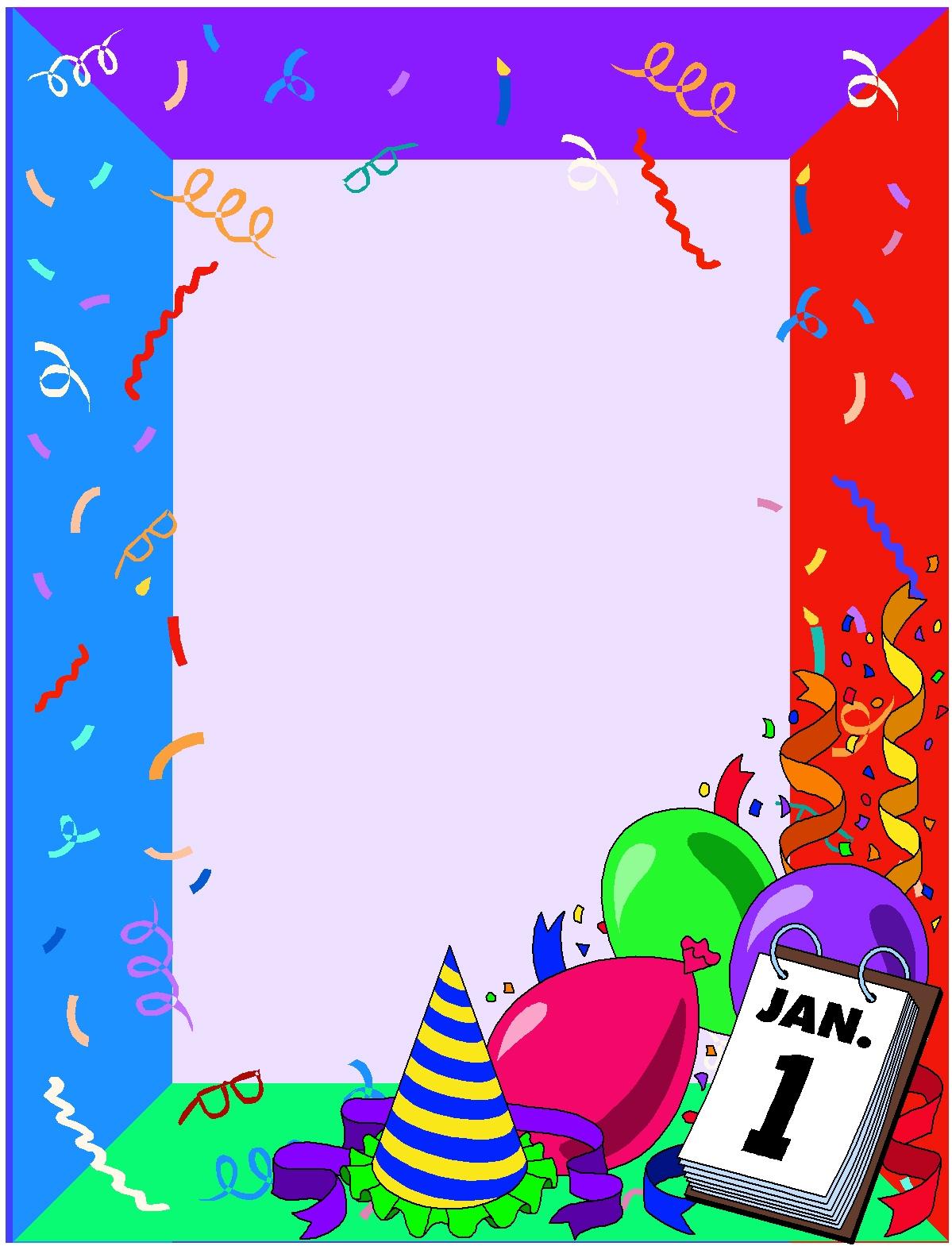 1199x1574 New Year's Border Clip Art