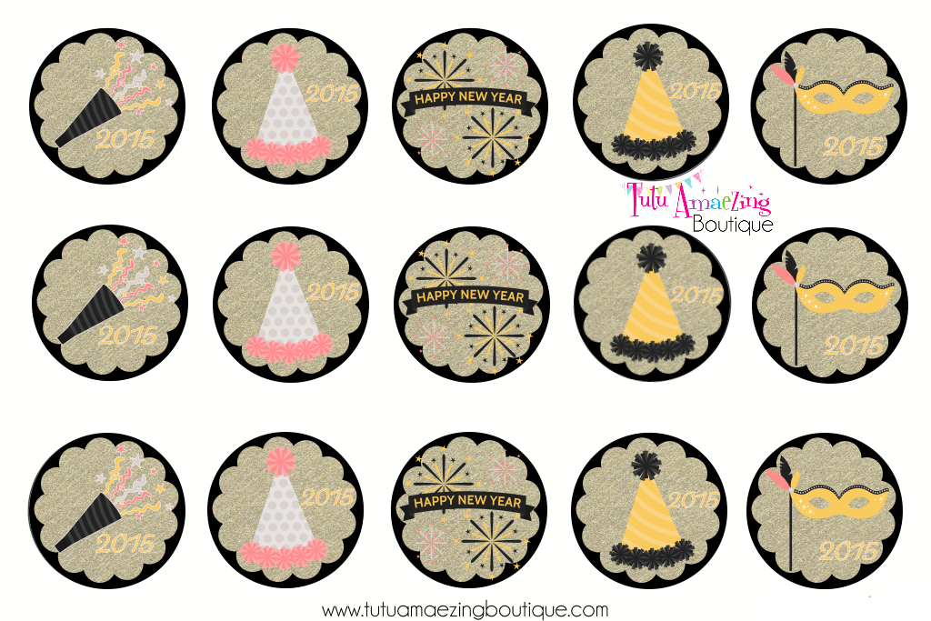 1024x683 New Year's Eve 2015 Free Bottle Cap Image Sheets Free Bottle Cap