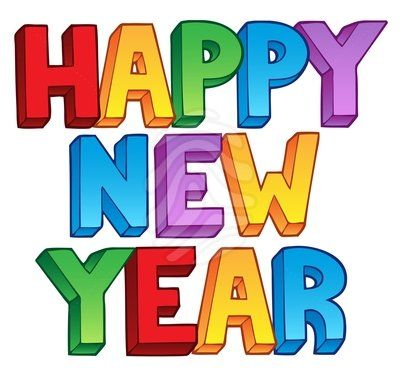 400x375 Happy New Year Holiday Clipart
