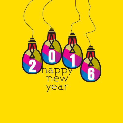 500x500 Creative 2016 New Year Design Vector Collection 05
