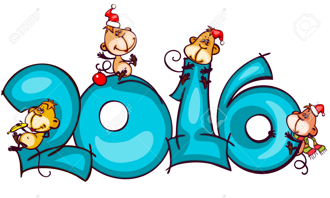 1300x779 New Year Clipart Monkey
