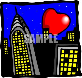 350x334 Royalty Free Clip Art Image The Big Apple, New York City