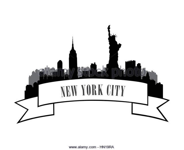 640x522 New York City Skyline Stock Vector Images