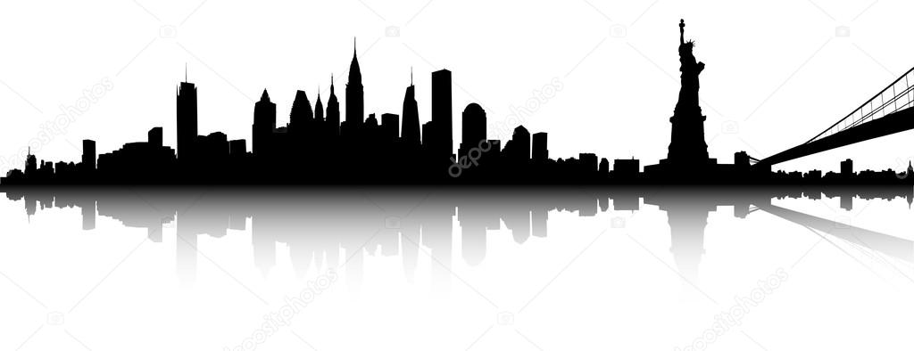 new york city skyline outline  free download on clipartmag